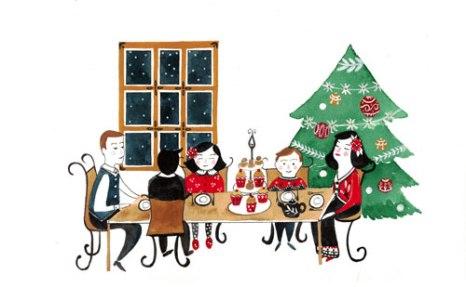 Le repas de Noel - 2017