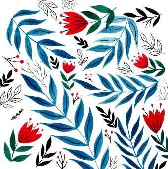 #illustration #veroniqueg #calligraphie #calligraphy #folkart #flowers